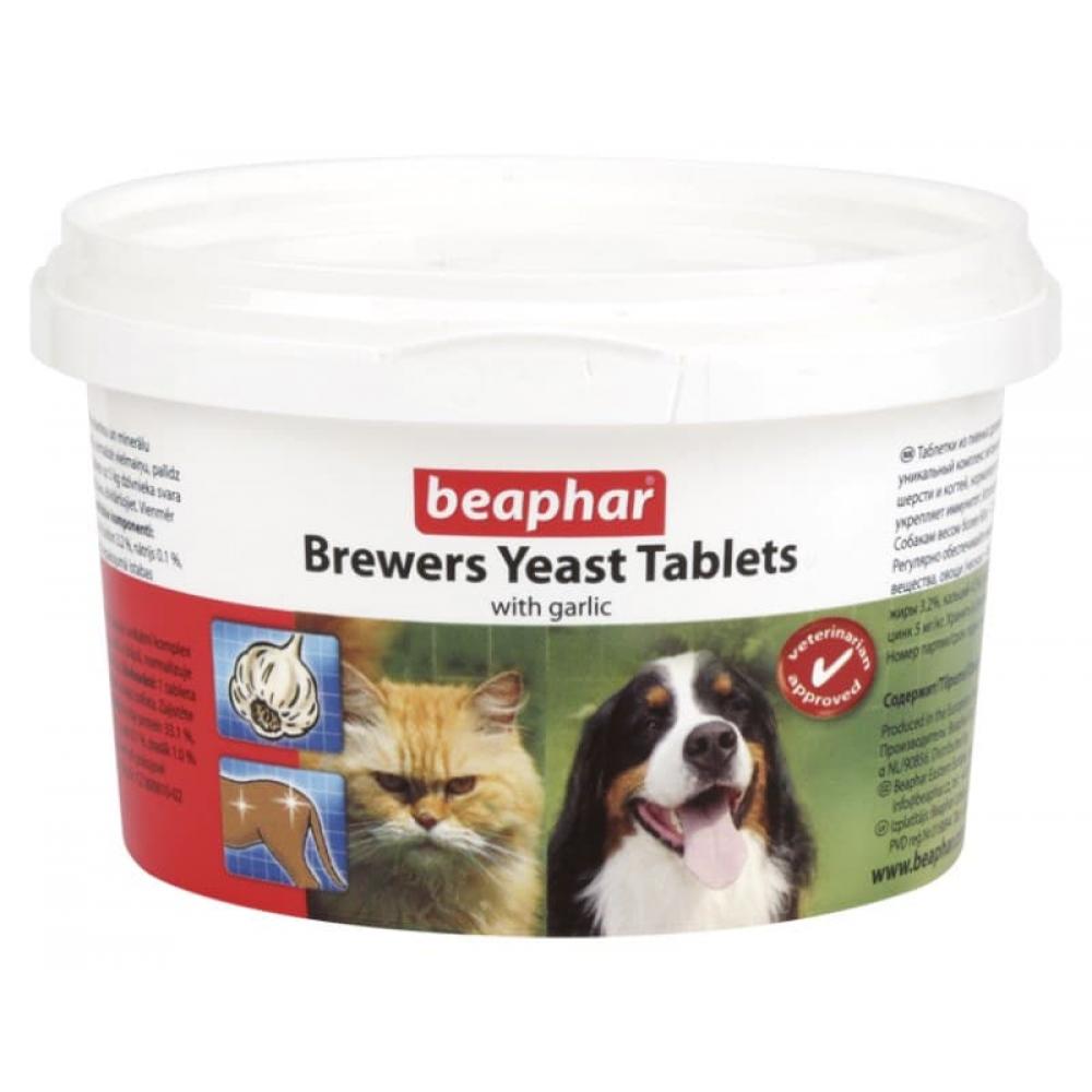 Beaphar Brewers Yeast Tablets,пивные дрожжи с чесноком для кошек и собак,250 таблеток