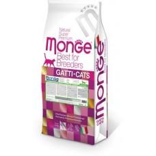 Monge Cat Breeder,монобелковй сухой корм для кошек со вкусом кролика,уп.10кг.
