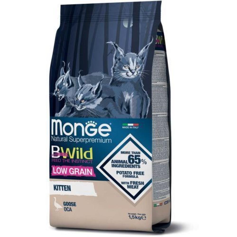 Monge BWild Kitten Goose, корм для котят с гусем,уп.1.5 кг.
