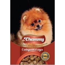 Chammy,говядина в соусе, влажный корм для собак,пауч 85 гр.