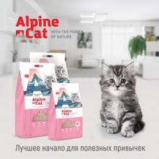 Alpine cat комкующий наполнитель ТОФУ с ароматом сакуры,6л.(2,6 кг.)