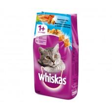 Whiskas,сухой корм для кошек подушечки с паштетом из лосося,тунца и креветок,уп.5 кг.