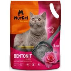 Murkel,комкующийся наполнитель для кошачьего туалета с ароматом розы,уп.5л(4 кг.)