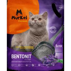 Murkel,комкующийся наполнитель для кошачьего туалета с ароматом лаванды,уп.5л(4 кг.)