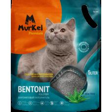 Murkel,комкующийся наполнитель для кошачьего туалета с ароматом алоэ вера,уп.5л(4 кг.)