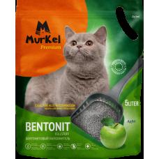 Murkel,комкующийся наполнитель для кошачьего туалета с ароматом яблока,уп.5л(4 кг.)