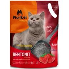 Murkel,комкующийся наполнитель для кошачьего туалета с ароматом клубники,уп.5л(4 кг.)