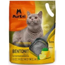 Murkel,комкующийся наполнитель для кошачьего туалета с ароматом лимона,уп.5л(4 кг.)