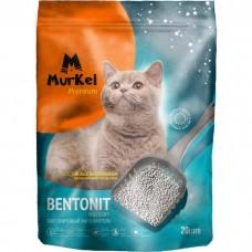 Murkel,комкующийся наполнитель для кошачьего туалета с ароматом кофе,уп.20л(16 кг.)