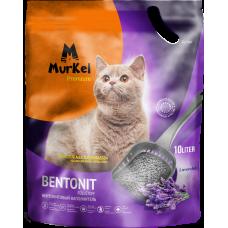 Murkel,комкующийся наполнитель для кошачьего туалета с ароматом лаванды,уп.10л(8 кг)