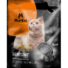 Murkel,комкующийся наполнитель для кошачьего туалета с углем,уп.10л(8 кг.)