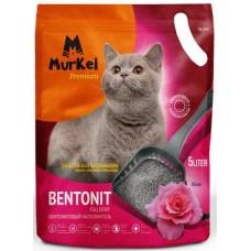 Murkel,комкующийся наполнитель для кошачьего туалета с ароматом розы,уп.10л(8 кг.)