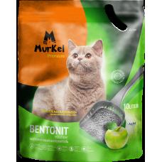 Murkel,комкующийся наполнитель для кошачьего туалета с ароматом яблока,уп.10л(8 кг.)