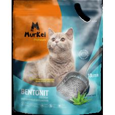 Murkel,комкующийся наполнитель для кошачьего туалета с ароматом алоэ вера,уп.10л(8 кг.)
