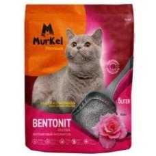 Murkel,комкующийся наполнитель для кошачьего туалета с ароматом сакуры,уп.10л(8 кг.)
