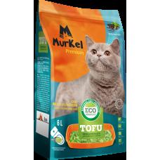 Murkel Tofu,комкующийся,соевый наполнитель,с ароматом зеленого чая,уп.2,6кг(6л.)