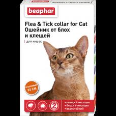 Beaphar Flea&Tick Collar for cat,ошейник от блох для кошек,оранжевый,35 см.