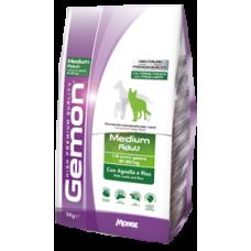 Gemon Dog Medium Adult,сухой корм для средних пород собак с бараниной и рисом,уп.3 кг.