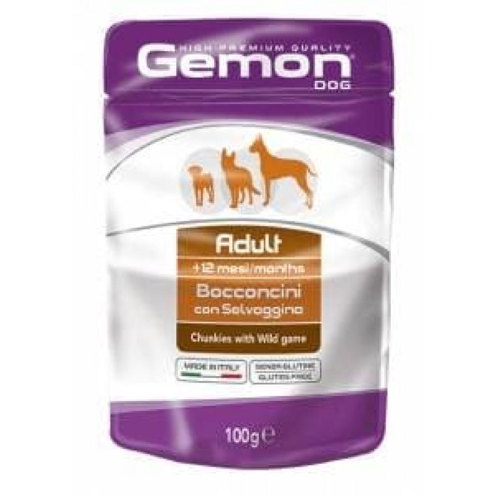 Gemon Dog High Premium Quality Pate Puppy&Junior Chicken,кусочки для щенков и юниоров с курицей,пауч 100 гр.