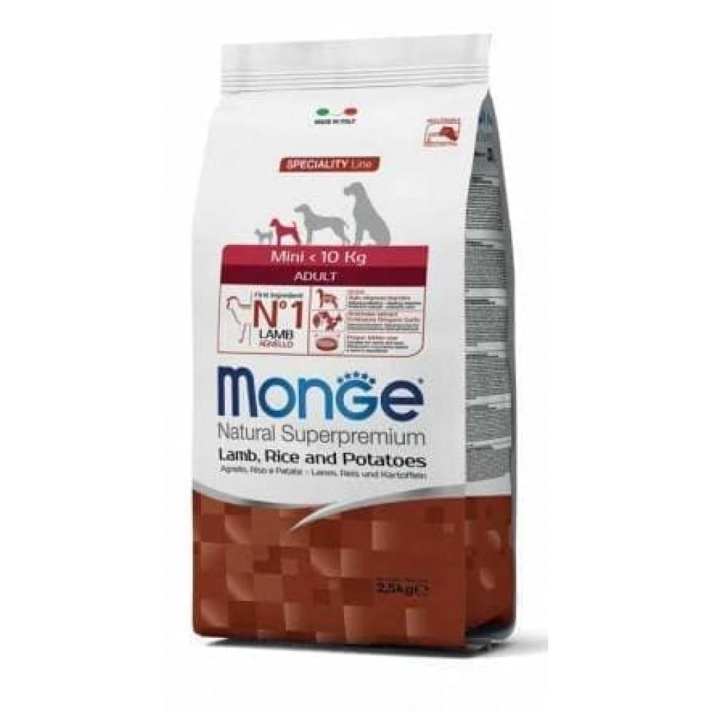 Monge Dog Mini Adult Lamb&Rice,сухой корм для взрослых собак мелких пород с бараниной и рисом,уп.7,5 кг.