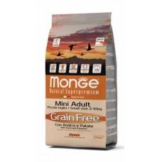 Monge Dog All Breeds Grain Free Duck,сухой беззерновой корм для всех пород с уткой и картофелем,уп.12 кг.