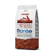 Monge Dog All Breeds Adult Lamb&Rice&Potato,сухой корм для взрослых собак с бараниной,рисом и картофелем,уп.2,5кг.
