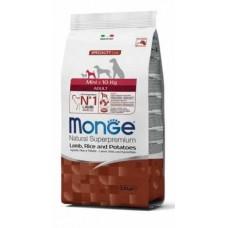 Monge Dog Mini Adult Lamb&Rice,сухой корм для взрослых собак мелких пород с бараниной и рисом,уп.800 гр.