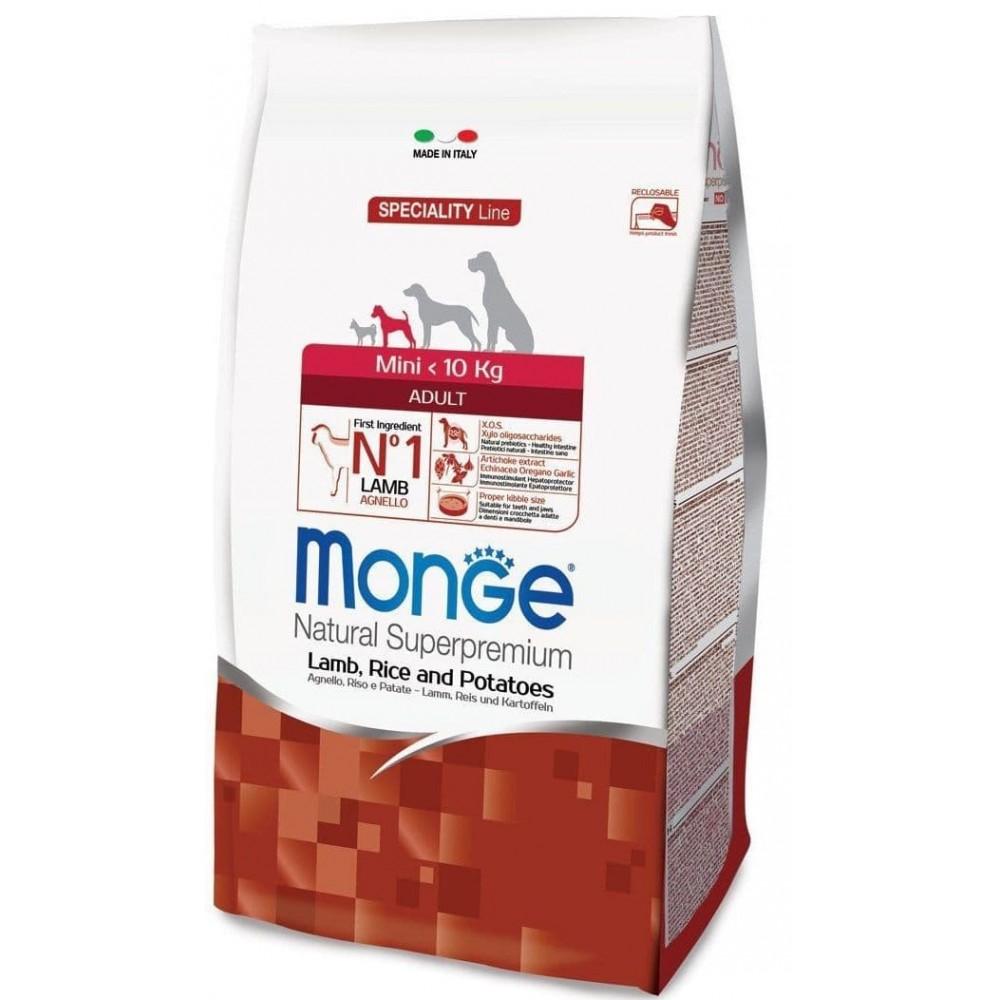 Monge Dog Mini Adult Lamb&Rice,сухой корм для взрослых собак мелких пород с бараниной и рисом,уп.2,5 кг.