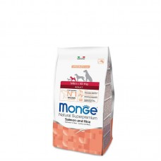 Monge Dog Mini Adult Salmon&Rice,сухой корм для взрослых собак мелких пород с лососем и рисом,уп.2,5 кг.
