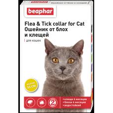 Beaphar Flea & Tick Collar for cat,ошейник от блох для кошек желтый,35 см.