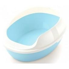 ЕвроПродукт,туалет овальный с бортом,без решетки,50*38*20 см,голубой