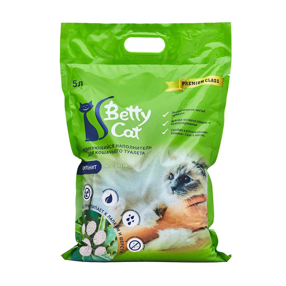 Betty Cat,комкующий наполнитель для кошачьего туалета с ароматом алоэ вера,5л.(4 кг.)