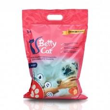 Betty Cat,комкующий наполнитель для кошачьего туалета с ароматом клубники,5л.(4 кг.)