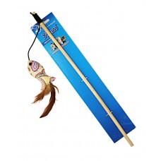 ЕвроПродукт УЮТ,дразнилка рыбка тканевая с перьями,40 см.