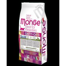 Monge Cat Breeder Sensetive,сухой корм для кошек с чувствительным пищеварением,уп.10кг.