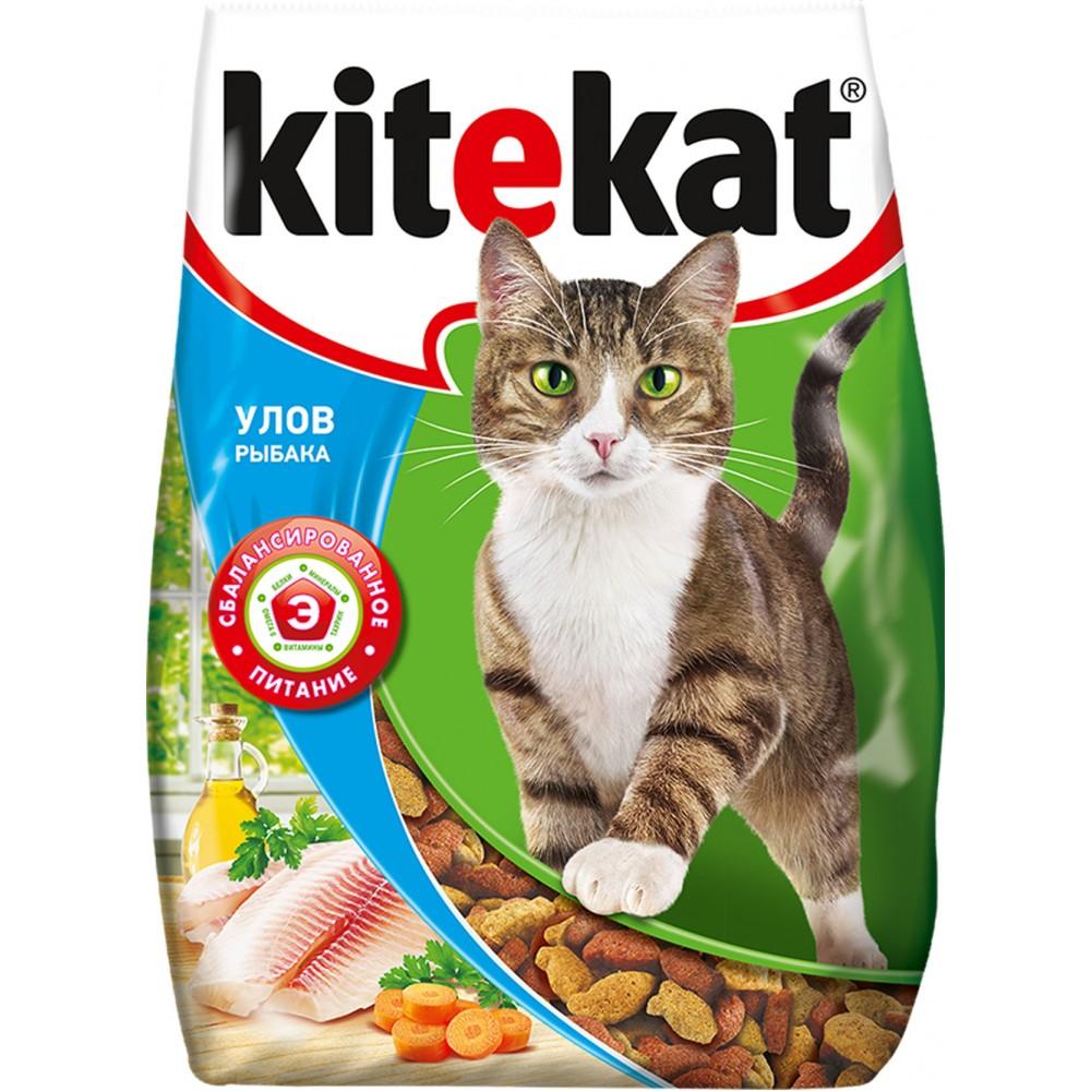 Kitekat сухой корм для кошек Улов рыбака,уп.1,9 кг.