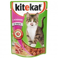 Kitekat влажный корм для кошек с ягнеком в соусе,уп.28*85 гр.
