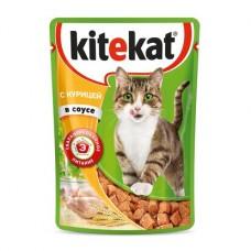 Kitekat влажный корм для кошек с курицей в соусе,уп.28*85 гр.