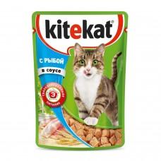 Kitekat влажный корм для кошек с рыбой в соусе,уп.28*85 гр.