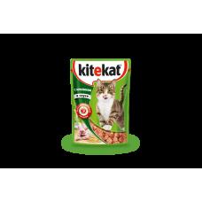 Kitekat влажный корм для кошек с кроликом в соусе,уп.28*85 гр.