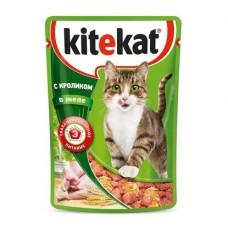 Kitekat влажный корм для кошек с кроликом в желе,уп.28*85 гр.