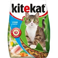 Kitekat сухой корм для кошек Улов рыбака,уп.350 гр.