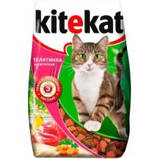 Kitekat сухой корм для кошек с аппетитной телятинкой,уп.350 гр.