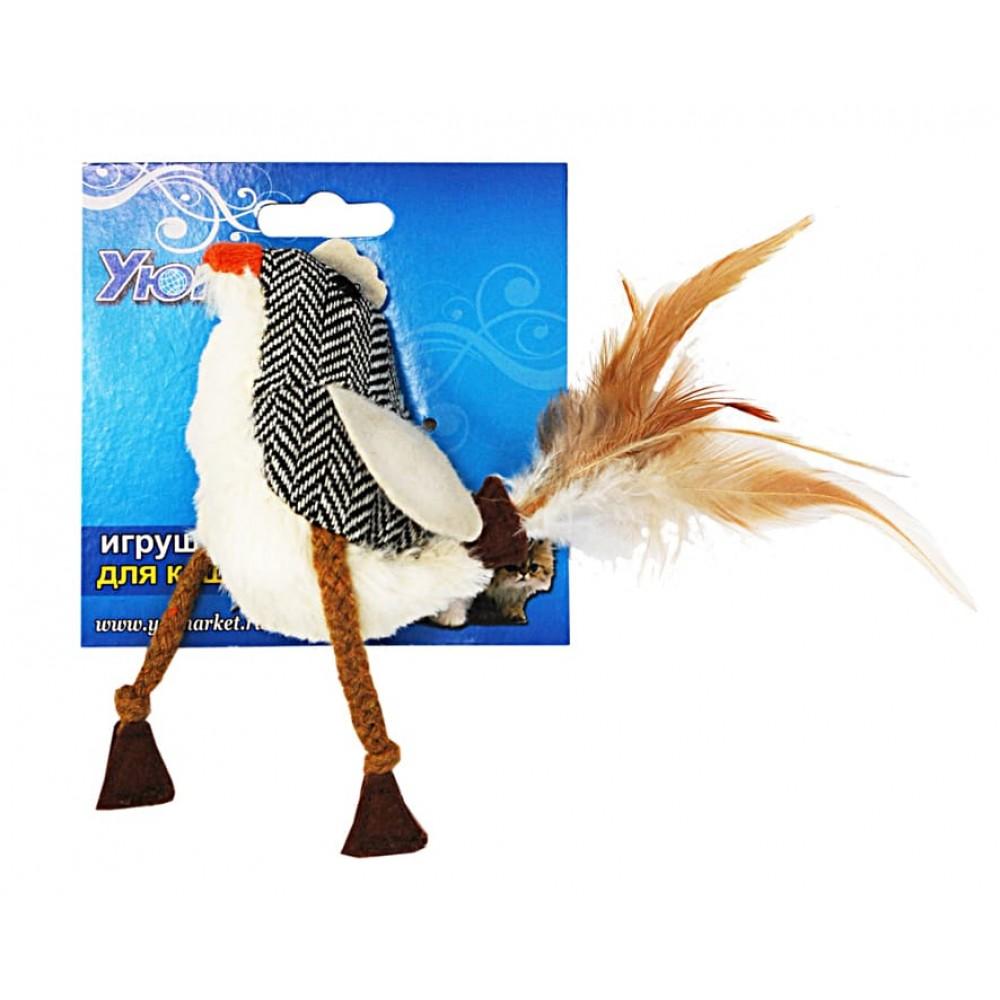 ЕвроПродукт УЮТ,игрушка для собак и кошек,птичка тканевая,10х6 см.