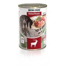 Bewi Dog Rich In Venison,влажный корм из оленины, с 12 месяцев,банка 800 гр.