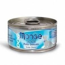 Monge Dog Cans,влажный корм для собак нежный цыпленок,банка 95 гр.