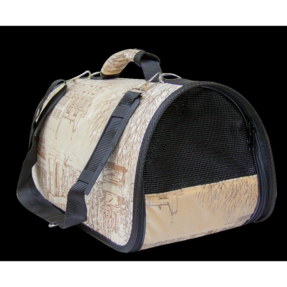 "Зооник,сумка-переноска ""Милано""жесткая,225х370х210 мм."