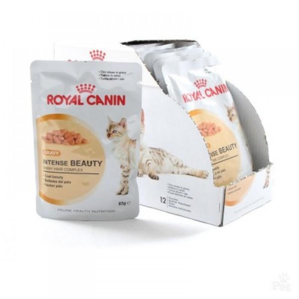Royal Canin Intense Beauty pork free,полнорационный корм в соусе для кошек,уп.12*85гр.
