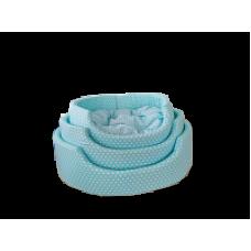 ЕвроПродукт УЮТ,фэшн лежак+поролоновая подушка,горох на голубом фоне