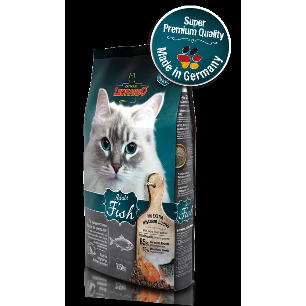 Leonardo Adult Sensitive Fish&Rice,сухой корм для взрослых кошек с чувствительным пищеварением с рыбой и рисом,уп.2 кг.